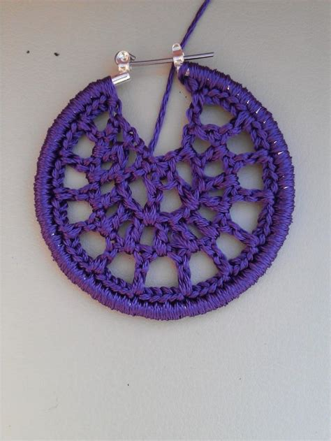 crochet hoop earring tutorial crochet inspiration