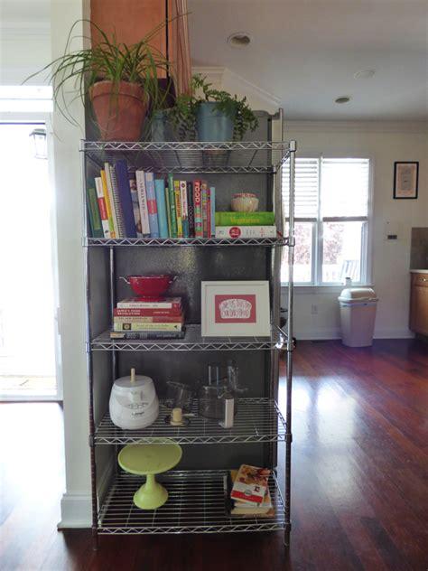 wire shelving for kitchen cabinets house tour 2014 downstairs em for marvelous