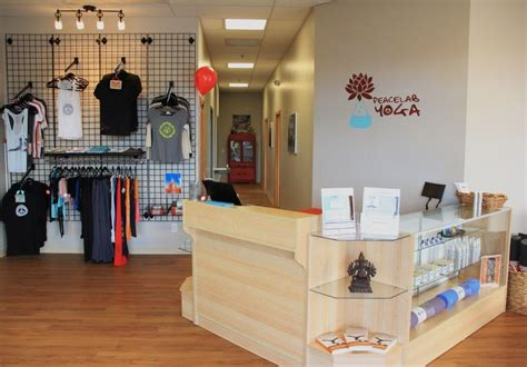 yoga studio reception ashley cole design yoga studio