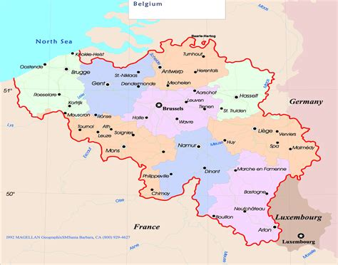 belgium map the map of belgium