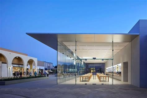 apple store slender roof covers apple store stanford by bohlin