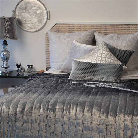 quilted coverlet kevin o brien studio bedding hand sterling knotted