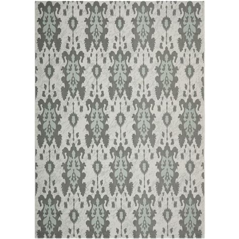 light aqua area rug safavieh courtyard light gray anthracite aqua weft 8 ft x 11 ft indoor outdoor area rug cy7276