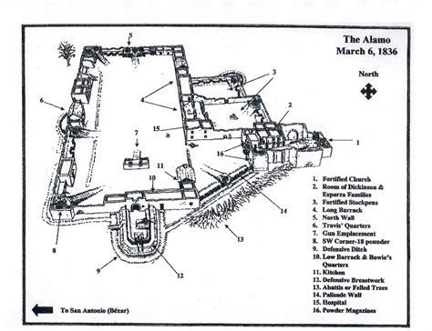 alamo floor plan 1836 fortress alamo the alamo medium