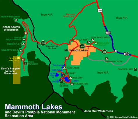 california map mammoth lakes mammoth lakes cgrounds tourist at home