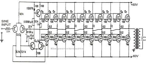 1kva 1000 watts sine wave inverter circuit using