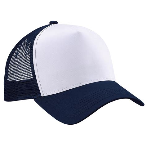 new beechfield half mesh trucker baseball cap hat in 8