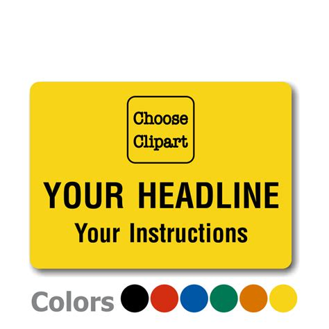 design your label online blank safety labels and custom stickers buy online