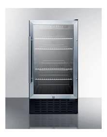 Summit Glass Door Refrigerator Summit Scr1841b Built In Undercounter Glass Door Refrigerator Equipment Blvd