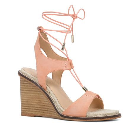 light pink lace up heels aldo terisa lace up wedge sandals in pink lyst