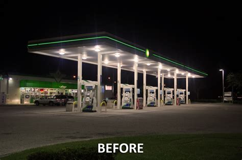 gas station canopy lighting levels gas station canopy lights high pressure sodium wiring