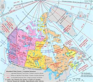 time zone map canada