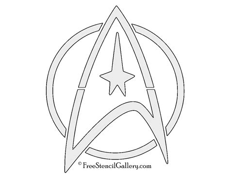 printable star trek logo star trek command insignia stencil free stencil gallery