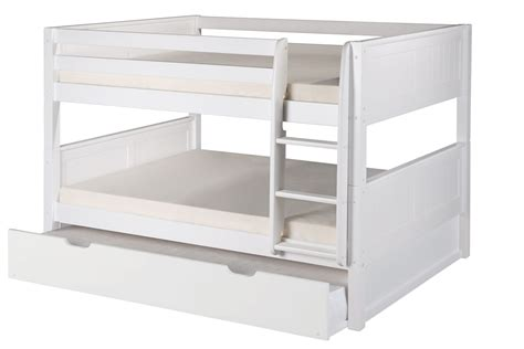 Low Bunk Beds With Trundle Low Bunk Bed Trundle Panel White