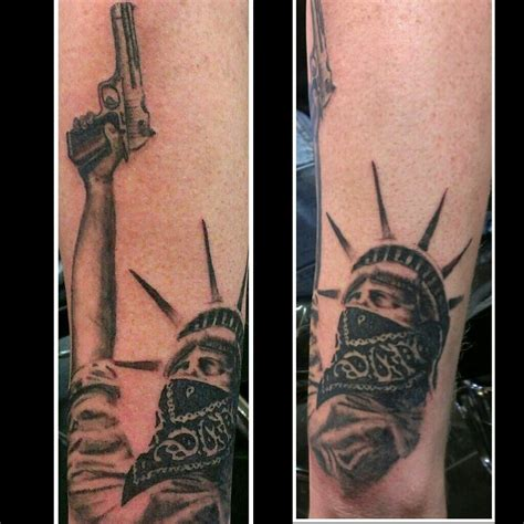 libertyville tattoo gangster statue of liberty ideas