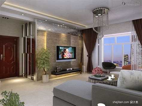 Mauer Wand Wohnzimmer by Background Wall Modern Living Room Decoration Designing
