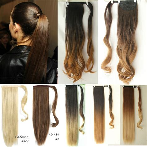 ponytail dip dye colour clip in hair dip dye ombre wrap around ponytail clip in hair extensions