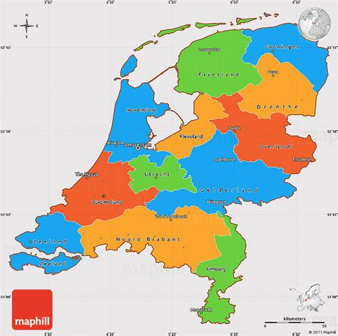 political map of the netherlands political simple map of netherlands cropped outside