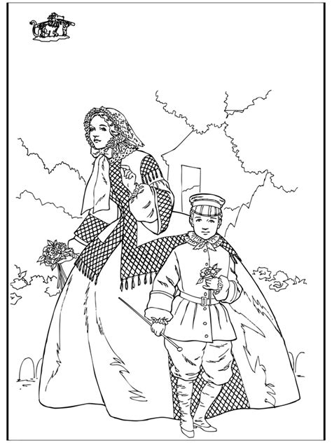 Woman and boy - Middle Ages