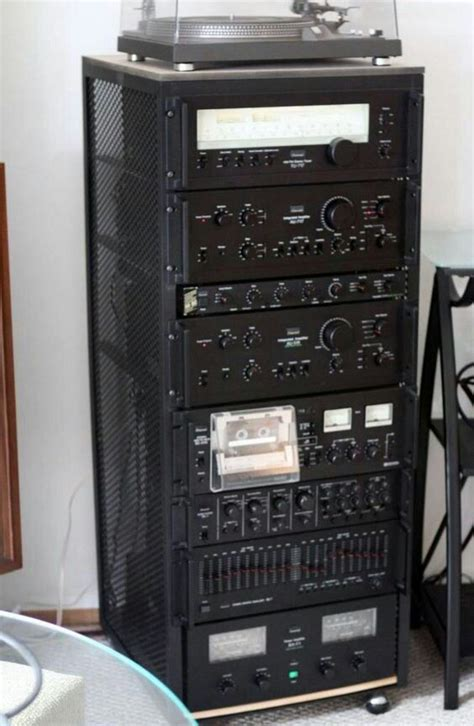 Audio Rack System Sansui Stereo Component Rack Audio Hi Fi Amp Stereo