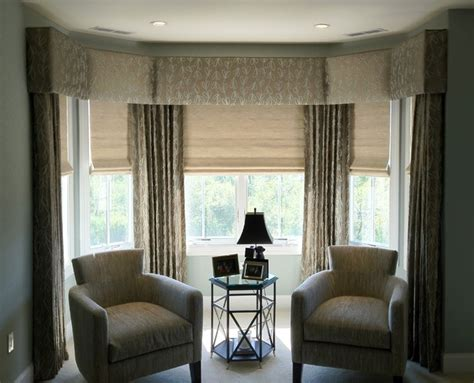 Bay Window Cornice Upholstered Cornices Transitional Bedroom New York