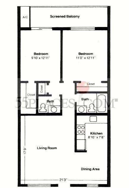 century village floor plans model d floorplan 850 sq ft century village at