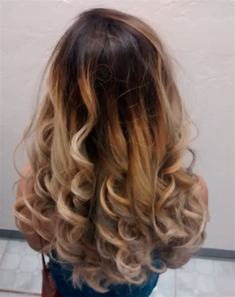 ombre hairstyles cost katie price39s blonde hairstyle with chunky light brown of