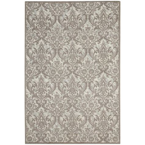 gray accent rug nourison damask ivory grey 2 ft 3 in x 3 ft 9 in