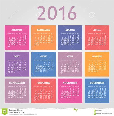 Calendrier Numéro Semaine 2016 Calendrier Pour 2016 La Semaine Commence Dimanche