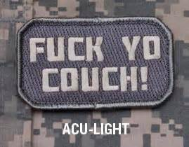 f yo couch f yo couch acu light tactical combat badge morale