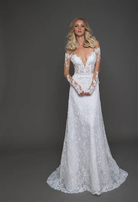 Sweep Wedding Dress by A Line Wedding Dress Chic Modern Wedding Dress In Color