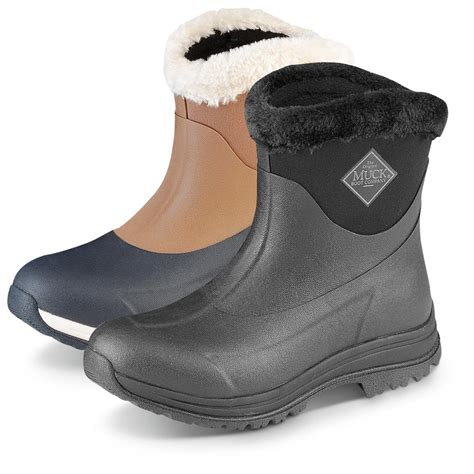 rubber boots muck s arctic apres slip on waterproof rubber boots