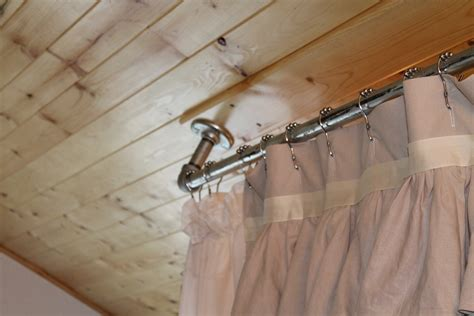 how to hang shower curtain rod amazing hanging curtain rods from ceiling 6 shower