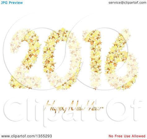 new year 2016 white background happy gold clipart 57