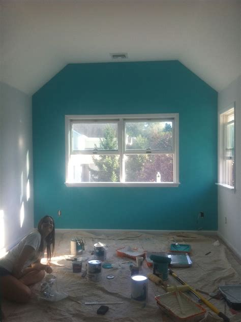a teal accent wall decor pinterest