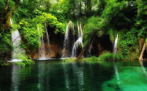 hd parque nacional los lagos plitvice croacia waterfall   wallpaper