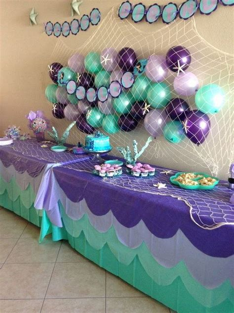 awesome balloon decorations balloon wall decorations balloon wall and mermaid
