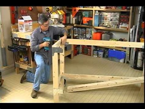 Build A Room In Your Garage by Building A Work Bench For Your Garage Or Craft Room