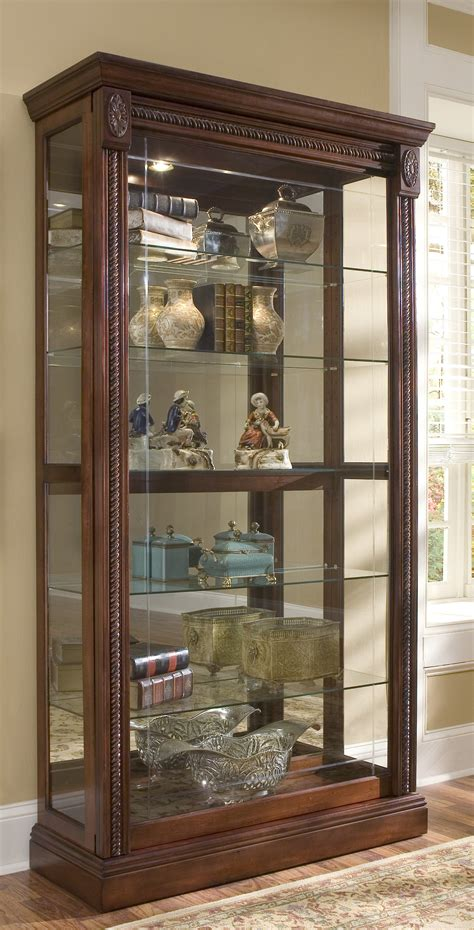 lighted corner curio cabinet glass curio cabinet medium size of storage cabinets
