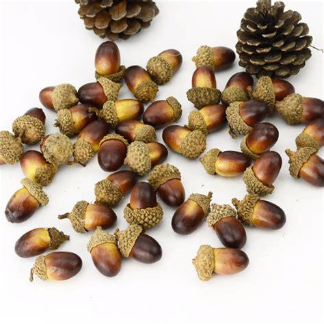 10pcs decorative fruits artificial mini acorn oak nut