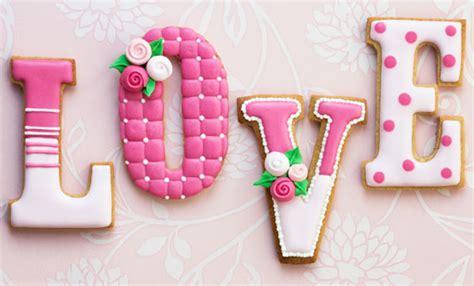 lettere per pasta di zucchero biscotti di san valentino decorati per dolci messaggi d