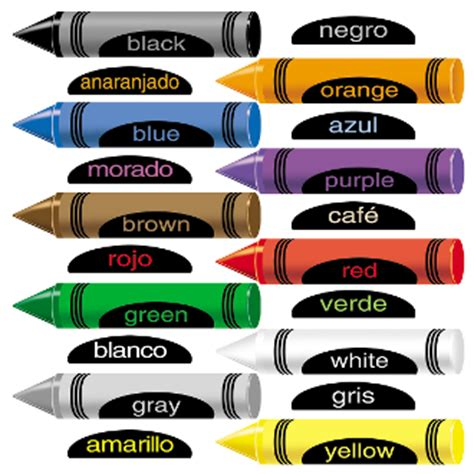 PRECUT Crayons with English & Spanish colors felt flannel