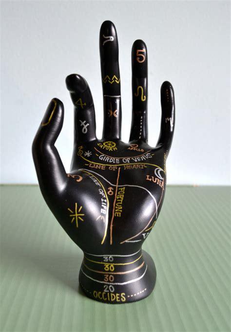 tattoo hand ring holder palmistry jewelry display hand painted ring holder jewelry