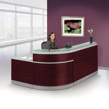 Esquire Glass Top Reception Desk Reception Desks For Waiting Rooms Lobbies Nbf
