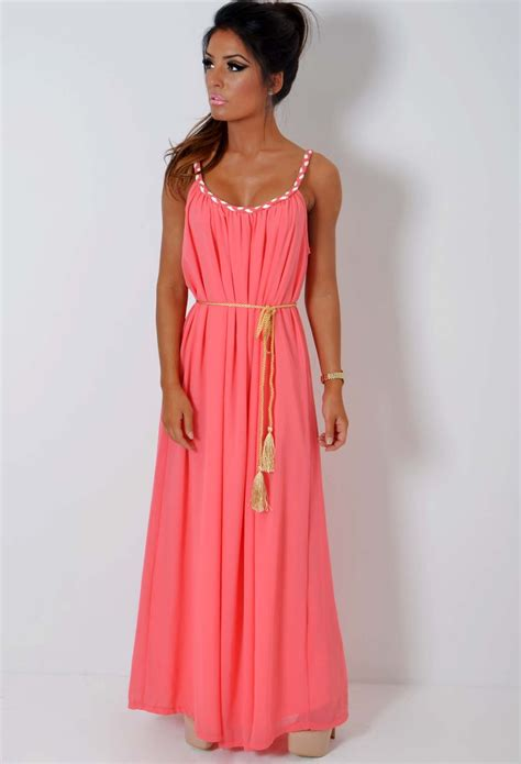 Coral Maxi coral maxi dress dressed up