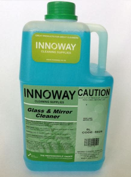 Window Cleaner Description by Innoway Chemicals Innoway Cleaning Supplies