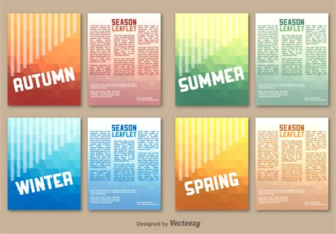 Seasonal Leaflet Template Free Vector