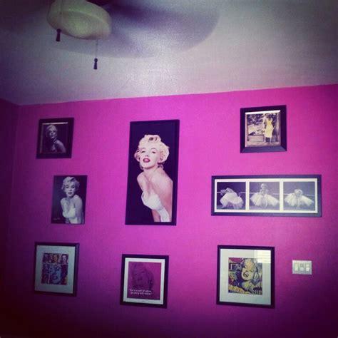 marilyn monroe stuff for bedroom marilyn monroe diy cosmic pink bedroom walls collage my
