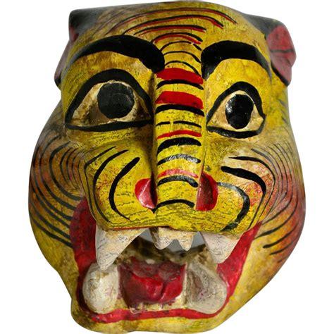mexican jaguar mask vintage mexican jaguar mask folk hewn wood