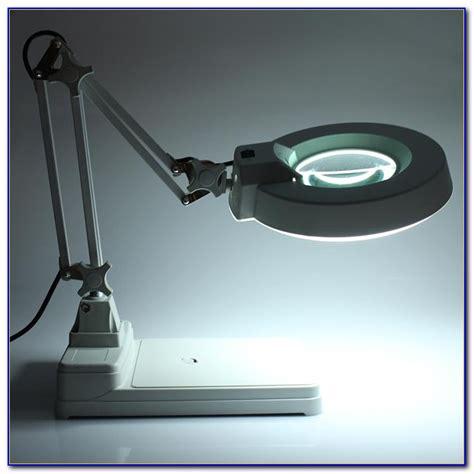 desk with light desktop l with magnifying glass desk home design